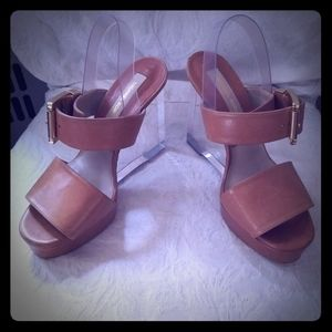 Michael Kors lucite wedges